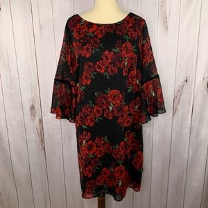 Jessica Howard Romantic Boho Floral Dress 20 W